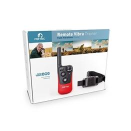 PetTec Remote Vibra Trainer Erziehungshalsband Antibell mit Fernbedienung für Tonsignal oder Vibration, 250m Reichweite -