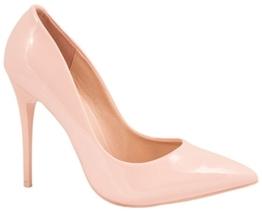 Elara Spitze Damen Pumps | Bequeme Lack Stilettos | Elegante High Heels Pink 38 -