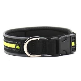Gepolsterte 3m Nachtsicht Reflektierende Streifen Hunde Halsband, wasserdicht, weicher Verstellbarer Halsband für kleine/mittlere/große Hunde, einfache Schnalle Design, 3Größen -