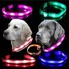 Hunde Leuchthalsband LED Blinkhalsband für Leuchtschlauch leuchtendes Hundehalsband Blinki Sicherheits-Hundehalsband , Farben:Blau -
