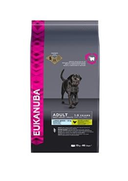 Eukanuba Adult Large Breed Trockenfutter (für erwachsene Hunde grosser Rassen, Premiumfutter mit Huhn), 15 kg Beutel -