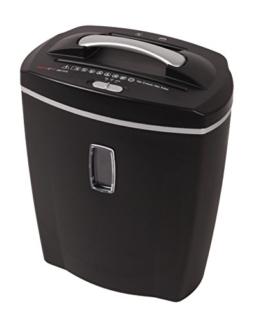 Genie 580 XCD Aktenvernichter (bis zu 8 Blatt, Partikelschnitt, mit CD - Shredder, Inkl. Papierkorb) schwarz -