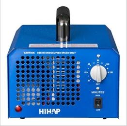 Profi Ozongenerator 3000 bis 7000mg/h- 3,5bis7g/h einstellbar Timer Ozon Generator perfekt Luftreiniger für Ihr Auto,Kücke Desinfektion, Formaldehyd Reduzierung und geruchtilgend in Badezimmer usw. (Blau) -