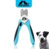 Krallenschere Harpets Premium - Krallenzange für Hunde und Katzen - integrierte Nagelfeile zur Nagel-Pflege - Ergonomischer Anti-Rutsch Griff für den perfekten Halt - Schutzvorrichtung & Sicherheitsverschluss - Ideales Nägel schneiden für kleine und große Tiere -