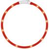LED-Haustier-Hundehalsband, Dland Led USB aufladbare Haustier-Sicherheits-Kragen Visible 500 Meter Wasserdicht Light up der L?nge verstellbar Flashing Collar(rote) -
