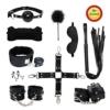 Paloqueth Sex Werkzeuge 10 Stück unter dem Bett Restraint System Slave S&M Fesseln Bondage Kit (Schwarz) -