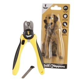Professioneller Krallenschneider Krallenzange für Hunde von Thunderpaws mit Schutzvorrichtung, Sicherheitsverschluss und Nagelfeile - Geeignet für mittelgroße und große Rassen -