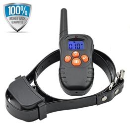 Dogwell DW87N 200 Meter Ton-und Vibrations-Erziehungshalsband Funktrainer Anti Bell- Erziehungshalsband für 1 Hund mit Fernbedienung, Wiederaufladbar und Wasserdicht -