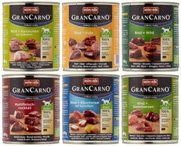 Animonda Gran Carno Hundefutter Adult Probierpack Adult Mix 2 (6 x 800 g) -