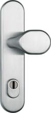 ABUS Tür-Schutzbeschlag HLZS814 ER edelstahl mit Zylinderschutz & beidseitigem Drücker rund, 12229 -