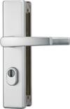 ABUS Tür-Schutzbeschlag KLZS714 F1 aluminium mit Zylinderschutz & beidseitigem Drücker eckig 20731 -