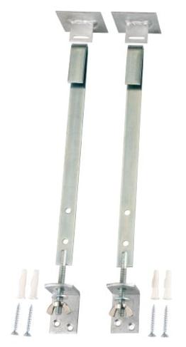 GAH-Alberts Gitterrostsicherung 901646 SB-verpackt Material: Stahl roh, Oberfläche: verzinkt Material Flacheisen 20 x 2.8 mm, Länge 370 mm -