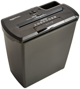 AmazonBasics Aktenvernichter, 8 Blatt, Streifenschnitt, CD-Schredder -