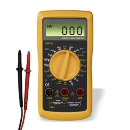 Hama Digital Multimeter (Spannungsmesser, Stromprüfer, Widerstand, Strommessgerät) schwarz/gelb -